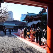 日枝神社での挙式の様子
