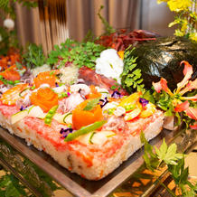 色鮮やかなちらし寿司