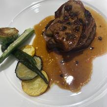 フォアグラとお肉、野菜