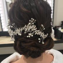 小枝モチーフのヘッドドレス