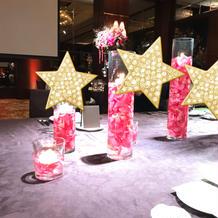 流しテーブル装花