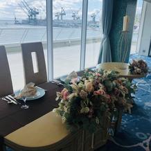 メインテーブル装花