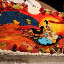 アラジンのウエディングケーキ