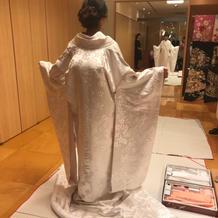 神前式衣装・桜柄の白無垢