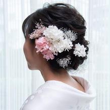 ヘアスタイル・花飾り(持ち込み)