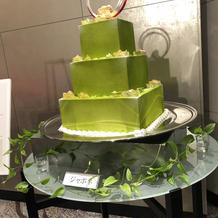 和婚に相応しい抹茶ケーキ