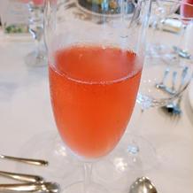 ハイビスカスのシャンパン