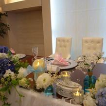 新郎新婦のテーブルの雰囲気