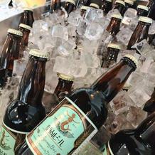 ウェルカムドリンクの葉山ビール