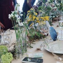 流しテーブルの装花