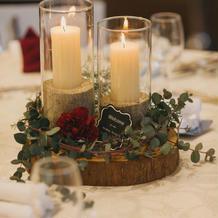 ゲストテーブル装花は2種類