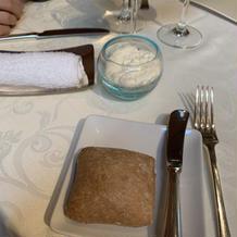 ホイップバターとパン、美味しかったです