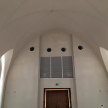 チャペルの高い天井