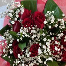 新婦にサプライズプレゼントした花束