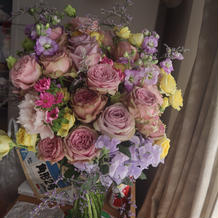 新郎にもらった花束
