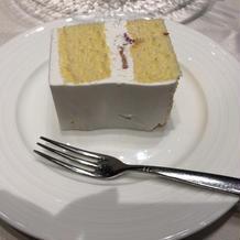 アップなしケーキ