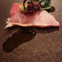 成約特典の2万円相当コース料理 お魚