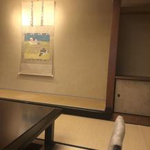 個室の控室