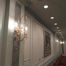 1階の披露宴会場の内装