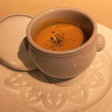 好評だったカボチャのスープ