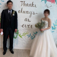 結婚式後の写真撮影