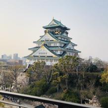 ガーデンチャペルから大阪城が見えました!