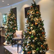クリスマス前のためツリーがありました