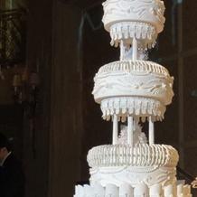 ケーキの高さがすごい