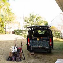趣味の車と釣り道具を飾らせてもらいました