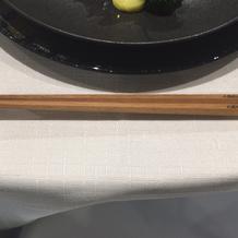 刻印入りのお箸