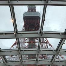 雨の日の東京タワー