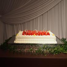 ケーキはフレッシュケーキにしました