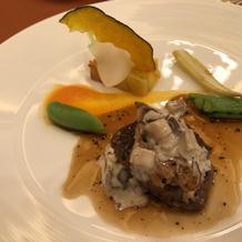 牛フィレ肉とフォワグラのポワレ