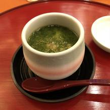 冷製 海老と焼茄子の茶碗蒸し
