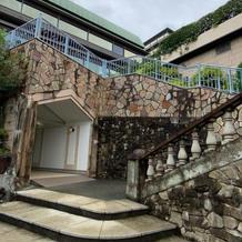チャペルヴァンヴェール外の階段