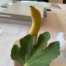 バナナの見た目のチョコレート
