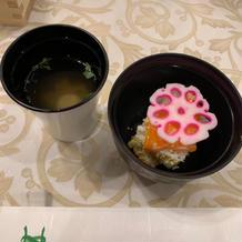 ちらし寿司のお裾分けとお吸い物