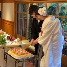 ちらし寿司入刀