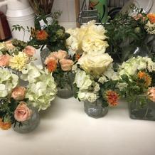 装花はゲストがお持ち帰りしてくれました