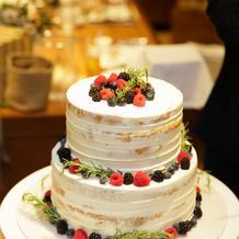 ケーキ。プランのままで十分素敵