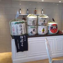 日本酒バーの演出