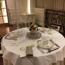 ゲストテーブルです