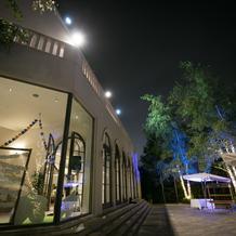 ガーデンのライトアップ