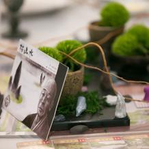 テーブル装飾(枯山水)
