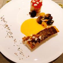 紅葉鯛サーモンガレットのポワレ