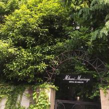 緑に囲まれた一軒家レストラン