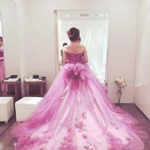 ドレス試着2