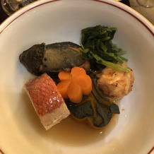 和食コース 鯛と野菜の煮物