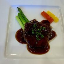 国産牛ロースの中国風ステーキ