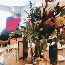 ゲストテーブルの花器は2パターン
